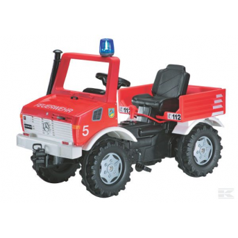 Rolly Toys - rollyFire Unimog  Požární auto s řazením, brzdami, majákem a sirénou